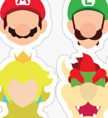 Super Mario Characters Sticker