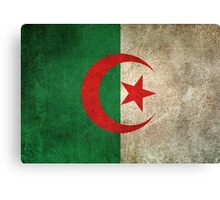 Old and Worn Distressed Vintage Flag of Algeria Canvas Print