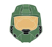 Stencilled Master Chief Photographic Print