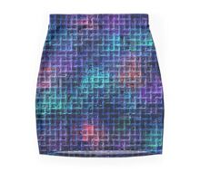 Rainbow Squared Mini Skirt