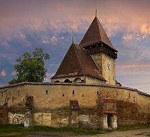 Fortified Axente Sever Church  (Asszonyfalva Frauendorf) by Maria Draper