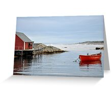 Red Boat - Peggy's Cove Nova Scotia Greeting Card