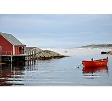 Red Boat - Peggy's Cove Nova Scotia Photographic Print