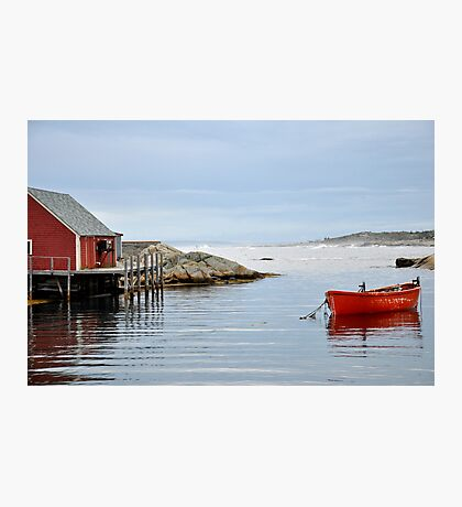 Red Boat - Peggy's Cove Nova Scotia Photographic Print