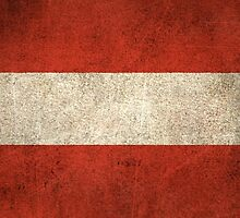 Old and Worn Distressed Vintage Flag of Austria by Jeff Bartels