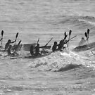Double skis at Anglesea by Andy Berry
