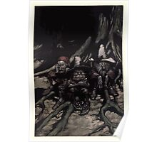 Rip Van Winkle by Washington Irving art Arthur Rackham 1919 0073 They Maintained the Gravest Faces Poster