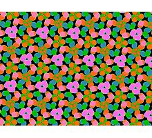 HOT PINK abstract floral Photographic Print