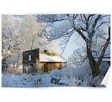 Old Shed on Ice Poster