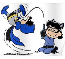 Batman Charlie Brown & Batgirl Lucy Poster