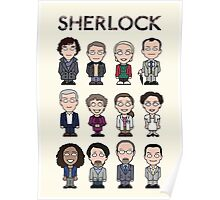Sherlock and Friends (poster/card/notebook) Poster
