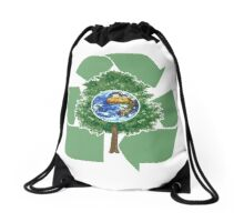 recycle earthday Drawstring Bag