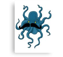 Octopus with a Mustache Canvas Print