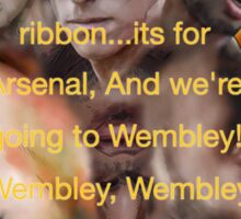She wore a yellow ribbon - Arsenal Sticker