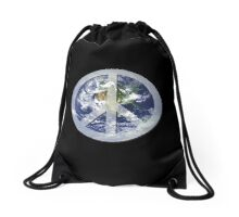 peace on earth Drawstring Bag