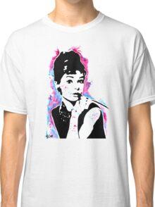 Audrey Hepburn - Street art - Watercolor - Popart style - Andy Warhol Jonny2may Classic T-Shirt