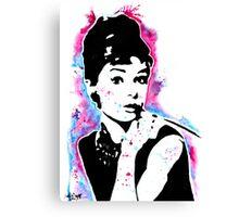 Audrey Hepburn - Street art - Watercolor - Popart style - Andy Warhol Jonny2may Canvas Print
