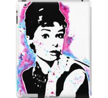 Audrey Hepburn - Street art - Watercolor - Popart style - Andy Warhol Jonny2may iPad Case/Skin