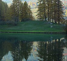 Reflections over the Laux Lake by Stefano  De Rosa