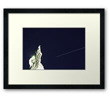 ISS/Space Shuttle and the angel Framed Print