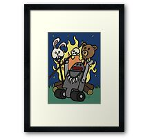 Teddy Bear And Bunny - Gone Native Framed Print