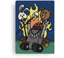 Teddy Bear And Bunny - Gone Native Canvas Print