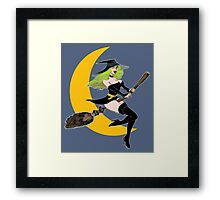 Green Witch's Moon Framed Print