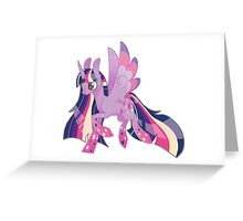 Rainbow Power Twilight Greeting Card