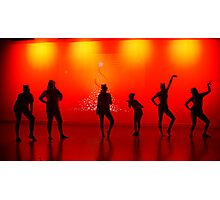 Silhoutte Dancers Photographic Print