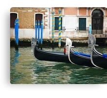 Venice - Gondolas Canvas Print