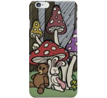 Teddy Bear And Bunny - Rainy Day Blues iPhone Case/Skin