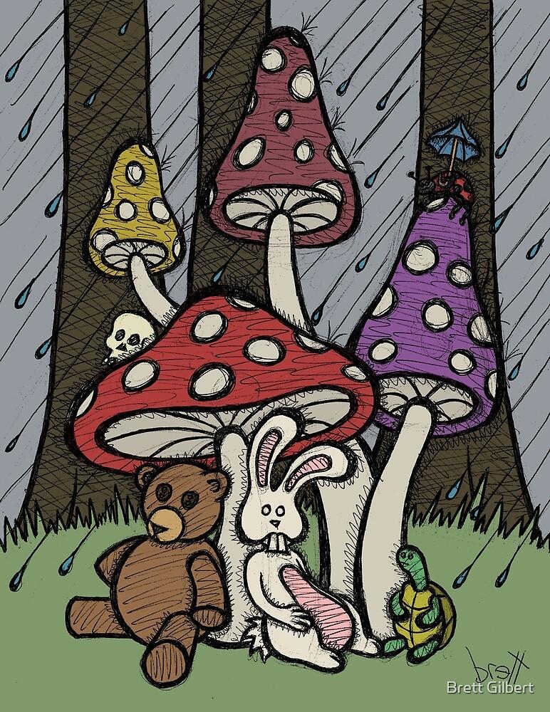 Teddy Bear And Bunny - Rainy Day Blues by Brett Gilbert