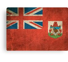 Old and Worn Distressed Vintage Flag of Bermuda Canvas Print