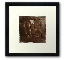 Book Shelf Framed Print