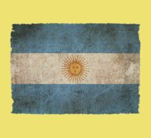 Old and Worn Distressed Vintage Flag of Argentina Kids Tee