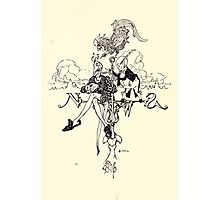 The Zankiwank & the Bletherwitch by Shafto Justin Adair Fitz Gerald art Arthur Rackham 1896 0163 Clerk of Weather Photographic Print