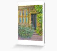 Lavender growing by a back door to East Riddlesden Hall Greeting Card