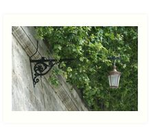 Lamp above the Tiber River, Rome Art Print