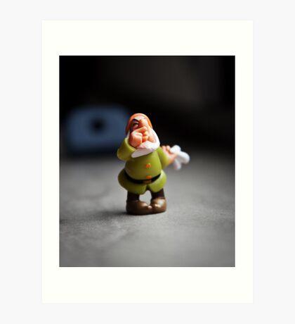 Sneezy Dwarf Art Print