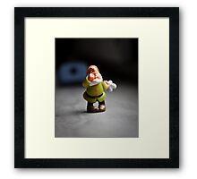 Sneezy Dwarf Framed Print