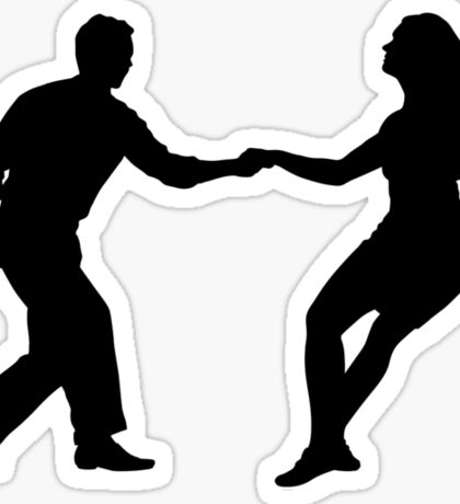 Swing dance Sticker