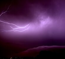Purple Storm - Lightning in the clouds by Bulent Hamit