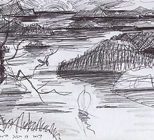 ENDLESS ISLANDS(INK PEN DRAWING)(C2007) by Paul Romanowski