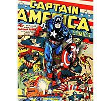 Captain America - Cover Mix Photographic Print