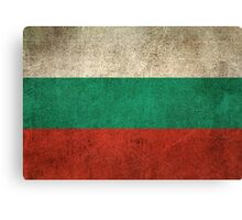Old and Worn Distressed Vintage Flag of Bulgaria Canvas Print