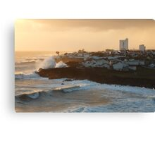 Stormy weather in Azores Canvas Print