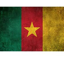 Old and Worn Distressed Vintage Flag of Cameroon Photographic Print