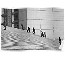 Climbers - La Défense, France - 2009 Poster