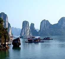 Waterfront Property -- Halong Bay, Vietnam  by Gorper