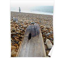 beach debris  hythe Poster